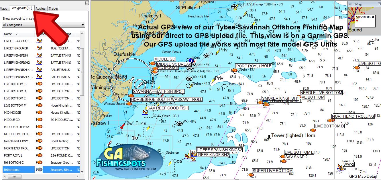 Tybee island savannah fishing spots and fishing map for Fishing charters savannah ga