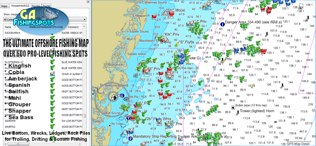 The Ultimate Georgia Offshore GPS Fishing Spots