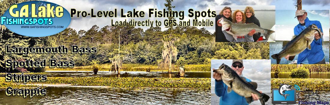Georgia Lake Fishing Maps and Fishing Spots