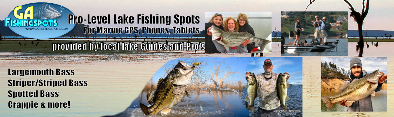 lake eufaula fishing map and fishing spots