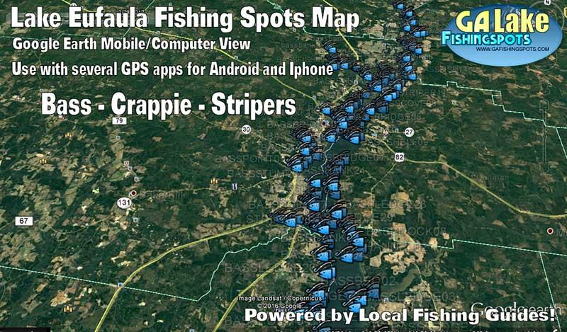 lake eufaula fishing map Lake Eufaula Fishing Map 2017 Georgia Fishing Spots For Gps lake eufaula fishing map